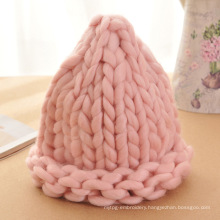 Korean Lovely Ladies Hand Knitted Cable Wool Cap Hat Beanie